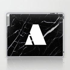 Black Marble - Alphabet A Laptop & iPad Skin