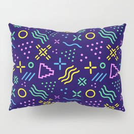 Retro 80s Shapes Pattern Pillow Sham