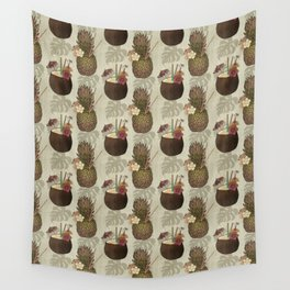 Pineapple Pina Coladas Wall Tapestry