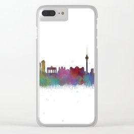 Berlin City Skyline HQ4 Clear iPhone Case