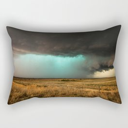 Jewel of the Plains - Storm in Texas Rectangular Pillow