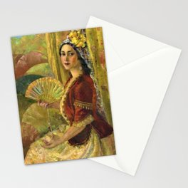 African American Masterpiece 'Madame Lillian Evanti as Rosina in Barber of Seville by Lois Jones Stationery Cards