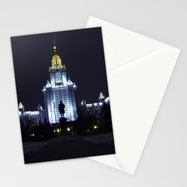 Night Life of Alma Mater III Stationery Cards