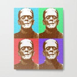 Scrabble Frankenstein's Monster x 4 Metal Print