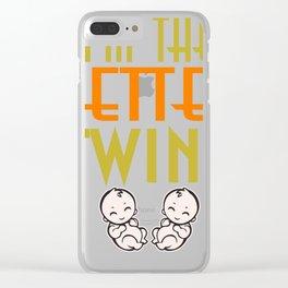 Gemini Baby Gift Birth Mummy Daddy Clear iPhone Case