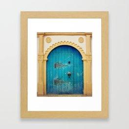 Blue Door Framed Art Print