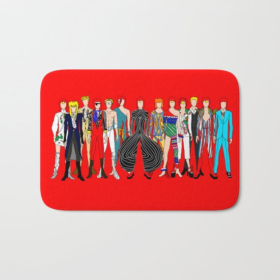 Red Bowie Group Fashion Outfits Bath Mat