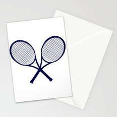Crossed Rackets Silhouette Stationery Cards