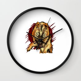 If I'm Not Dead I'm Not Finished Wolf Animal Wall Clock