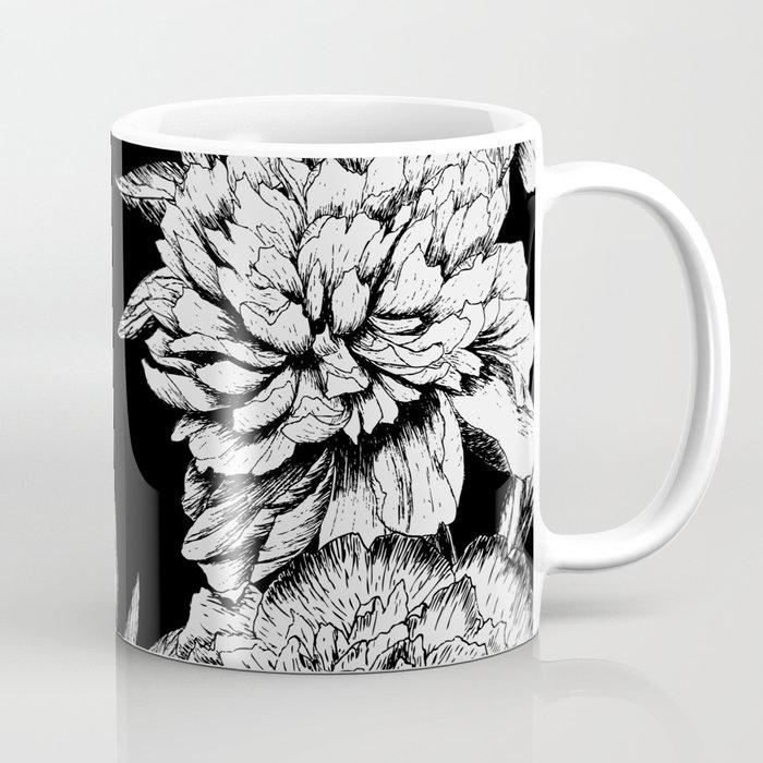 FLOWERS IN BLACK AND WHITE Coffee Mug