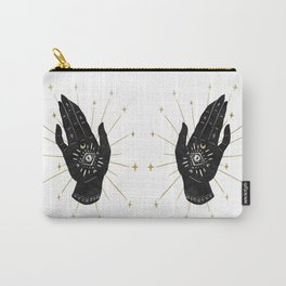 Mystic Hand with Eye - Black and Gold Ink Carry-All Pouch