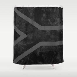Black South Africa Flag Shower Curtain