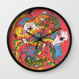 Holiday Imp Wall Clock