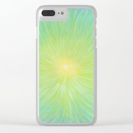 Radiance in Greens Clear iPhone Case