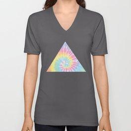 Pastel Tie Dye Unisex V-Ausschnitt