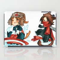 bucky barnes iPad Cases featuring winter - bucky by noCek