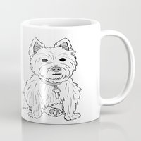 westie Mugs featuring Westie Sketch by Circus Dog Industries