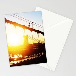 Golden Brooklyn Bridge Stationery Cards