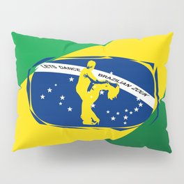 lets dance brazilian zouk flag design Pillow Sham