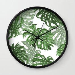 Monstera Deliciosa Wall Clock