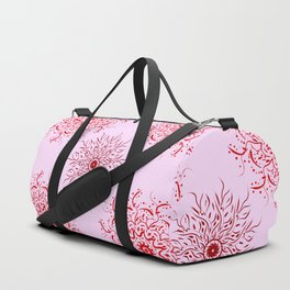Ornamental pink pattern Duffle Bag