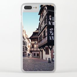 Strasbourg narrow streets Clear iPhone Case
