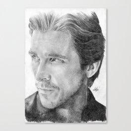 Christian Bale Traditional Portrait Print Leinwanddruck