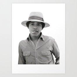 obama pose smoked Art Print