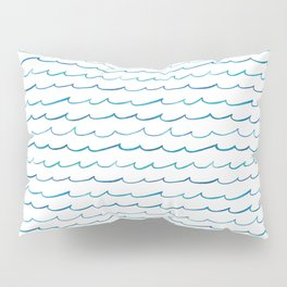 watercolor waves Pillow Sham