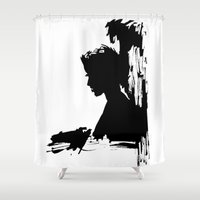 silhouette Shower Curtains featuring Silhouette by LoZaMa