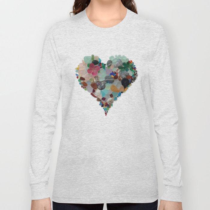 Love - Original Sea Glass Heart Long Sleeve T-shirt