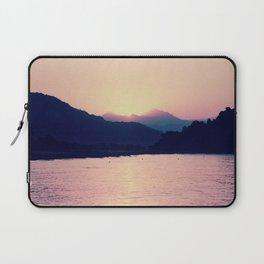 Romantic Pastel Pink Sunset #1 #art #society6 Laptop Sleeve