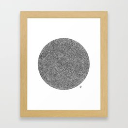 Abstract circle line drawing Framed Art Print