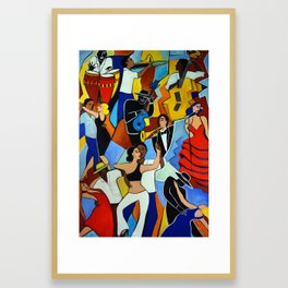 SALSA SAUVAGE Framed Art Print