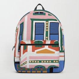 San Francisco victorian house Backpack