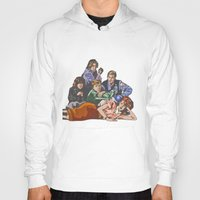 breakfast club Hoodies featuring The Breakfast Club by Heidi Banford