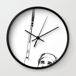 Federer's Balancing Act Wall Clock