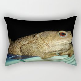 European Common Toad by Poolside At Night Rectangular Pillow