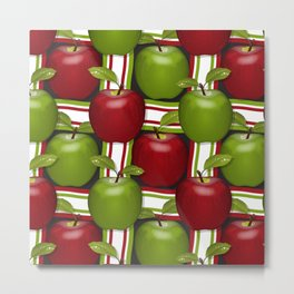 Apples Composition Metal Print