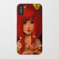 birdy iPhone & iPod Cases featuring Birdy by Anna Lisa Wardle