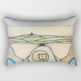 Alien Optometrist's Road to Solitude Rectangular Pillow