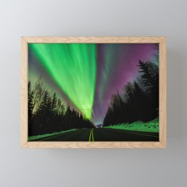 Aurora / Northern Lights, Fairbanks, Alaska | Nature Landscape Travel Photography | Wall Art Decor Framed Mini Art Print