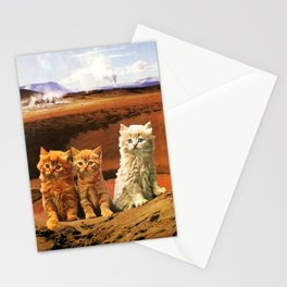 Three kittens adventure. Stationery Cards
