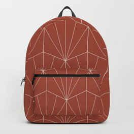 Gisela Geometric Line Pattern - Pomegranate Red Backpack