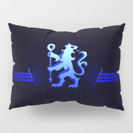 football team with its oversized color blue Pillow Sham