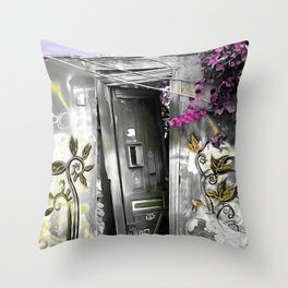 PLAKA - DOOR no2a Throw Pillow
