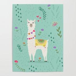 Festive Llama Poster
