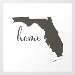 Florida is Home Art Print