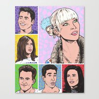 friends tv Canvas Prints featuring friends by turddemon
