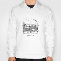 burger Hoodies featuring Burger by Les Très Tresses